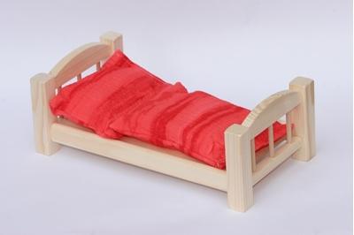 Obrázek z Dřevěná postýlka pro panenky 33 cm