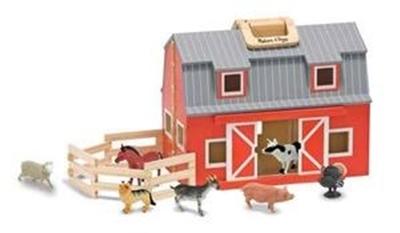 Obrázek z Melissa & Doug Dřevěná stodola a stáje v kufříku