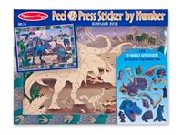 Obrázek Soumrak dinosaurů, samolepky podle čísel Melissa & Doug
