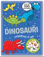 Obrázek Dinosauři - vybarvuj a lep