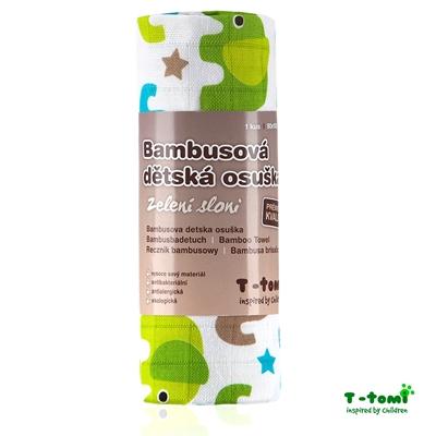 Obrázek z Bambusová osuška, zelení sloni