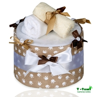 Obrázek Plenkový dort LUX, velké béžové tlapky