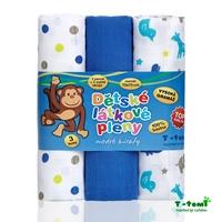 Obrázek Látkové TETRA pleny, modré žirafy - TOP KVALITA