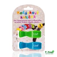Obrázek Kočárkový kolíček, modrý + zelený