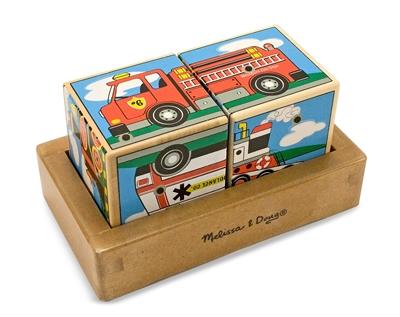 Obrázek z Melissa & Doug Dřevěné zvukové kostky Doprava