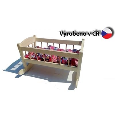 Obrázek z Dřevěná kolébka pro panenky velká