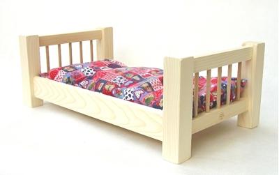 Obrázek z Dřevěná postýlka pro panenky 55 cm