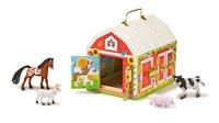 Obrázek Dřevěná stodola se zámky a zvířátky Melissa & Doug