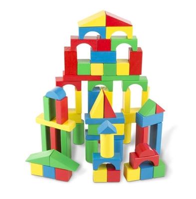 Obrázek z Melissa & Doug Dřevěná stavebnice kostky 100 ks