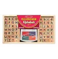 Obrázek Melissa & Doug Dřevěná razítka abeceda