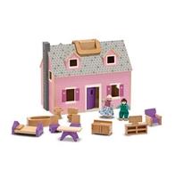 Obrázek Melissa & Doug Dřevěný přenosný domeček pro panenky