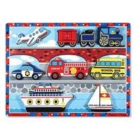 Obrázek Melissa & Doug Dřevěné puzzle dopravní prostředky