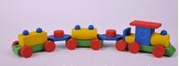 Obrázek Dřevěný vláček barevný - bříza