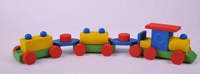Obrázek z Dřevěný vláček barevný - bříza