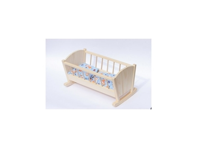 Obrázek z Dřevěná kolébka pro panenky malá
