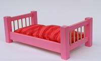 Obrázek Dřevěná postýlka pro panenky 55 cm barevná