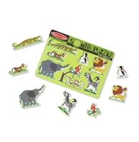 Obrázek Melissa & Doug Dřevěné puzzle se zvukem zvířat ze ZOO