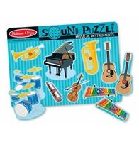 Obrázek Melissa & Doug Dřevěné puzzle se zvukem hudební nástroje