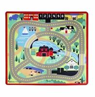 Obrázek Melissa & Doug Dětský koberec Město s dřevěnými autíčky