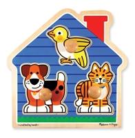 Obrázek Melissa & Doug Dřevěné puzzle pro nejmenší - mazlíčci