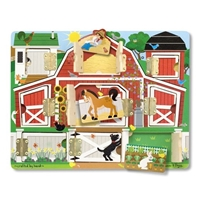 Obrázek Melissa & Doug Dřevěné puzzle - stodola s okénky