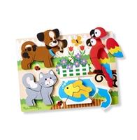 Obrázek Dřevěné puzzle pro nejmenší zvířátka