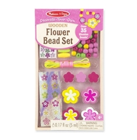 Obrázek Dřevěné korálky květiny 35+ks Melissa & Doug