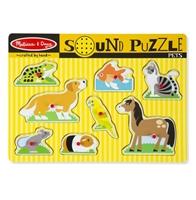 Obrázek Dřevěné puzzle se zvuky domácí zvířátka Melissa & Doug