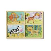 Obrázek Dřevěné puzzle na cestu Zvířata