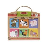 Obrázek Dřevěné puzzle na cestu Farma